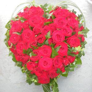 coeur-rose-rouge
